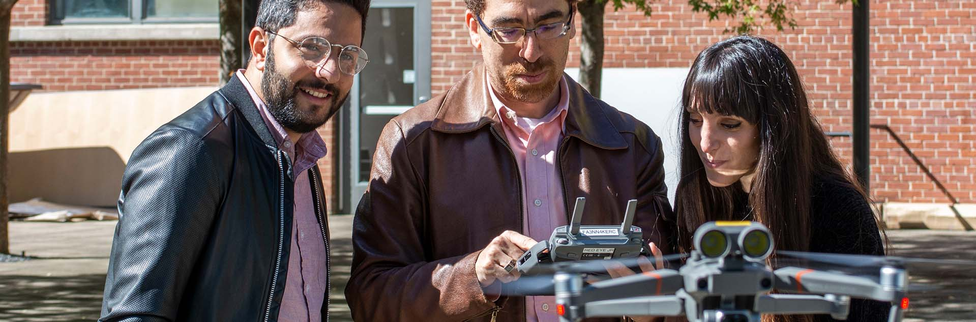 Tarek Rakha and High Performance Building Students Test Out New Drone