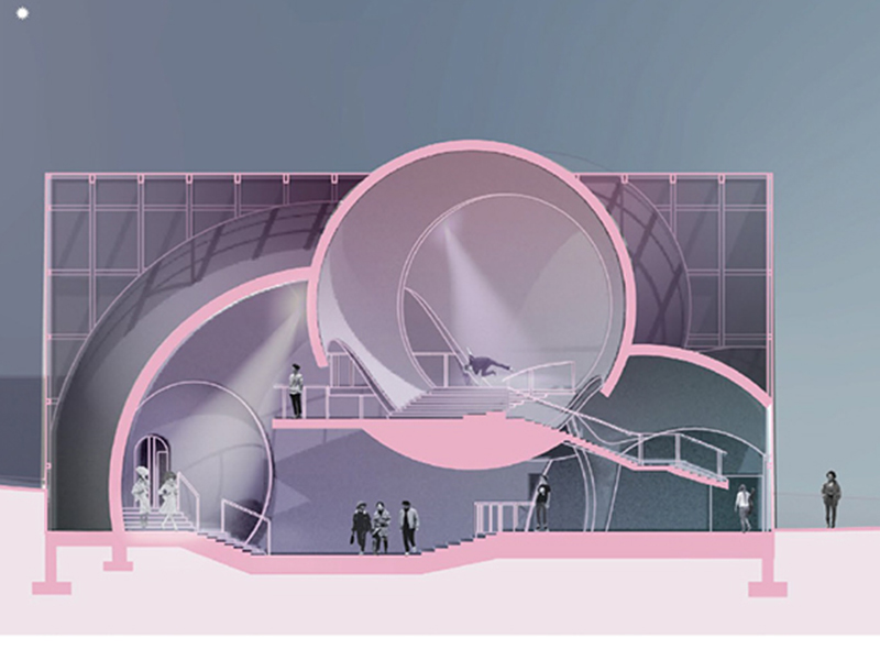 Interior site plan titled, Bubble Cabaret, by Julia Leftwich