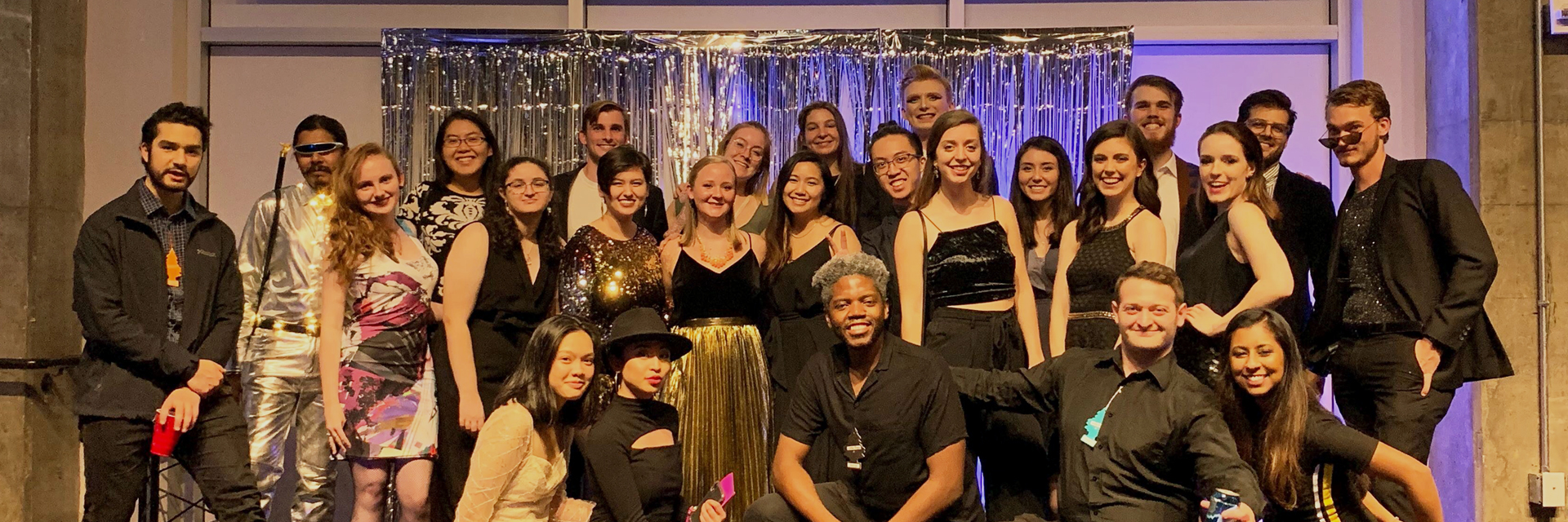 Group photo from the Fall 2019 Beaux Arts Ball