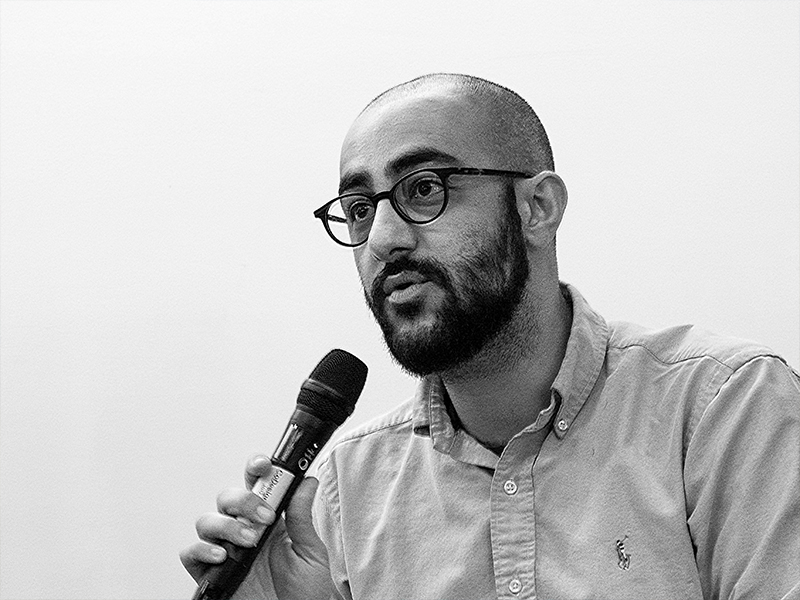 Yousef Bushehri speaking at the 2018 Equity in Architecture forum
