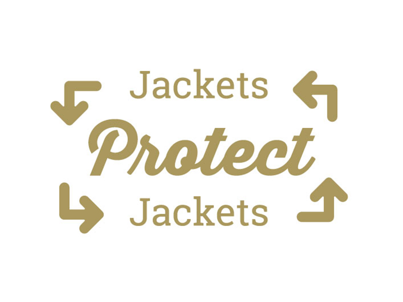 Jackets Protect Jackets gold icon