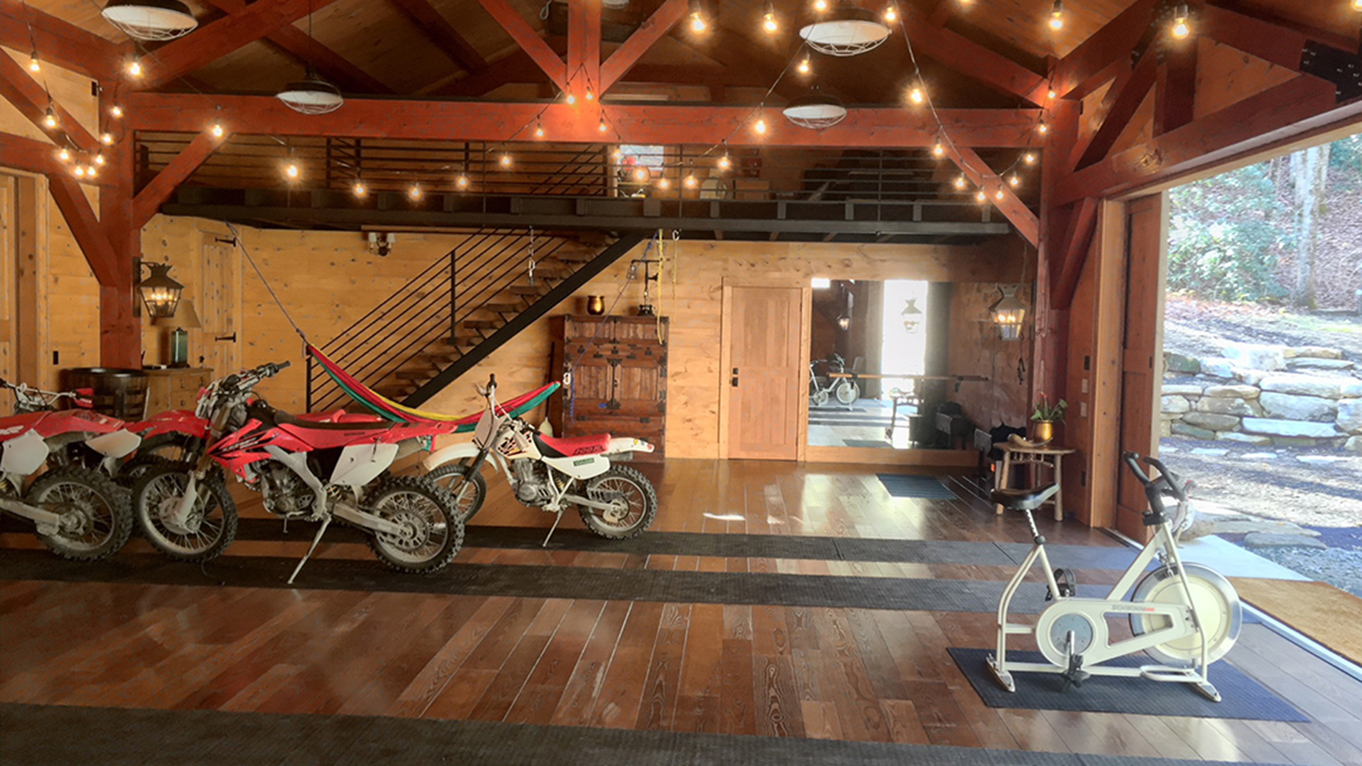 Finished barn interior